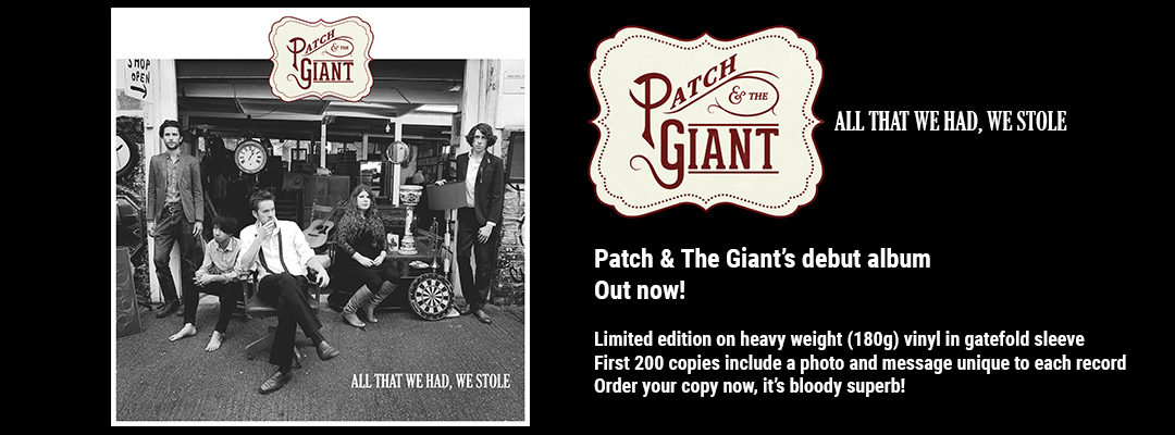 Patch & The Giants's debut album out now, click to buy now.